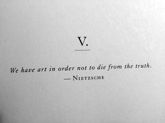 In order not to die.