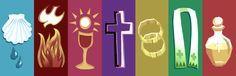Symbols of the 7 Sacraments