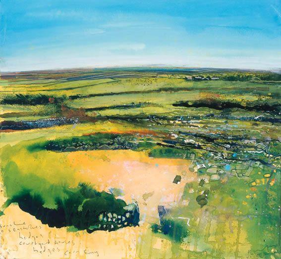 The Cornish Hedge - Kurt Jackson - mixed media