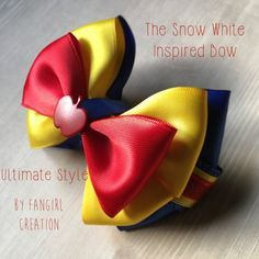 The Snow White Inspired Bow by FangirlCreation on Etsy