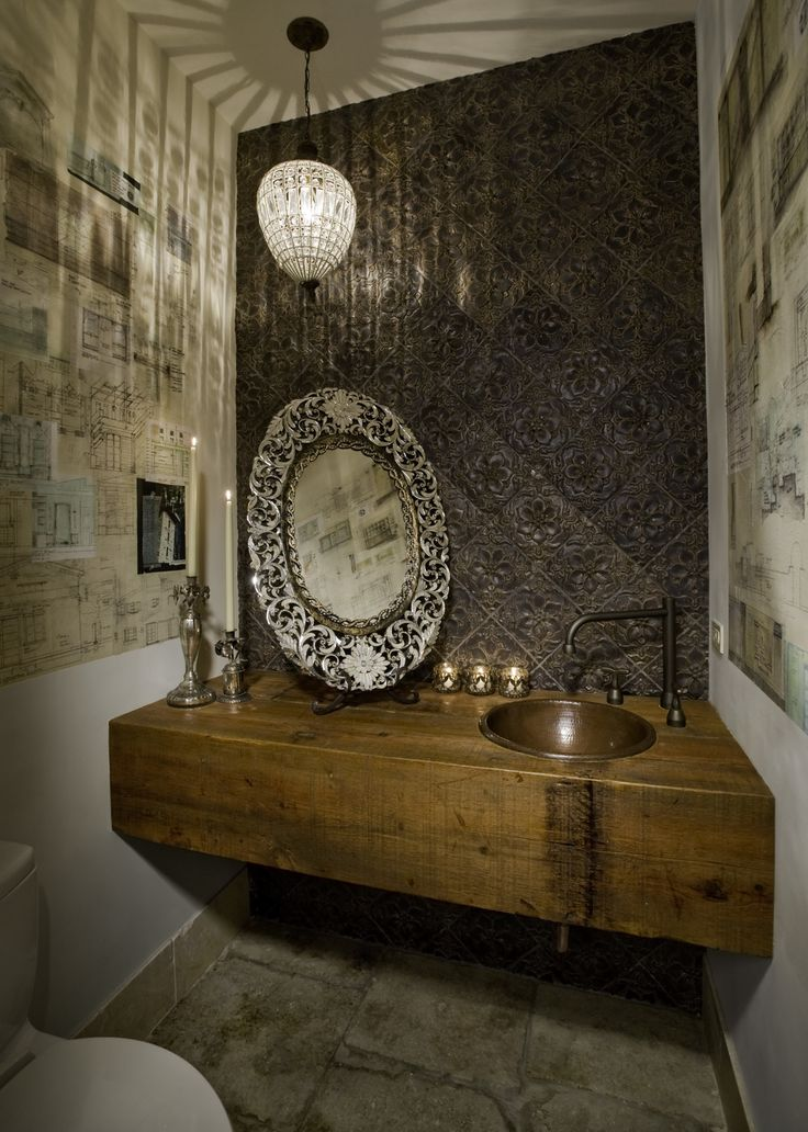 bathroom fans middot rustic pendant. A Crystal Pendant Light Casts Soft Glow Across This Opulently Designed Bathroom Metallic Elements Like An Antique Mirror And Tin Tile Backsplash Fans Middot Rustic