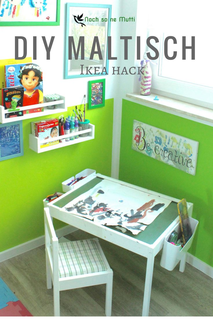 diy maltisch im kinderzimmer malecke nach montessori ikea hack diy familienblogger. Black Bedroom Furniture Sets. Home Design Ideas