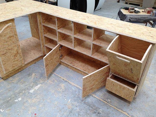 Meuble Brunch DDL On Behance Meuble OSB Restaurant Design DDL Wwodwork  Product Design Furniture Design Emerald