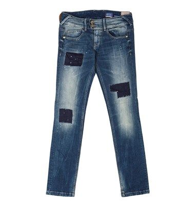 Aiko patchwork skinny denim