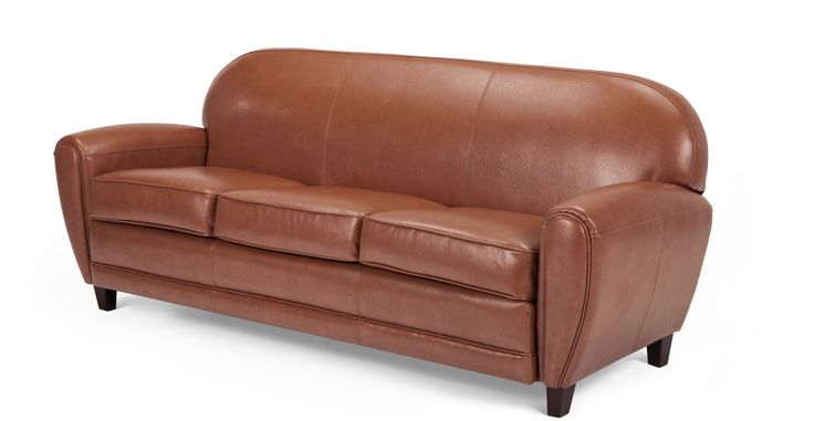 Jazz Club 3 Seater Sofa, Cognac | made.com