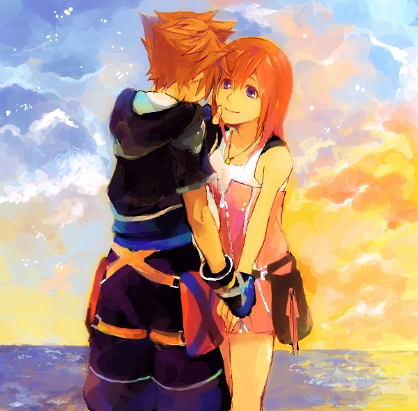 Such a beautiful artwork of Sora and Kairi, Even though I  don't ship them, I love it! ^_^ <3