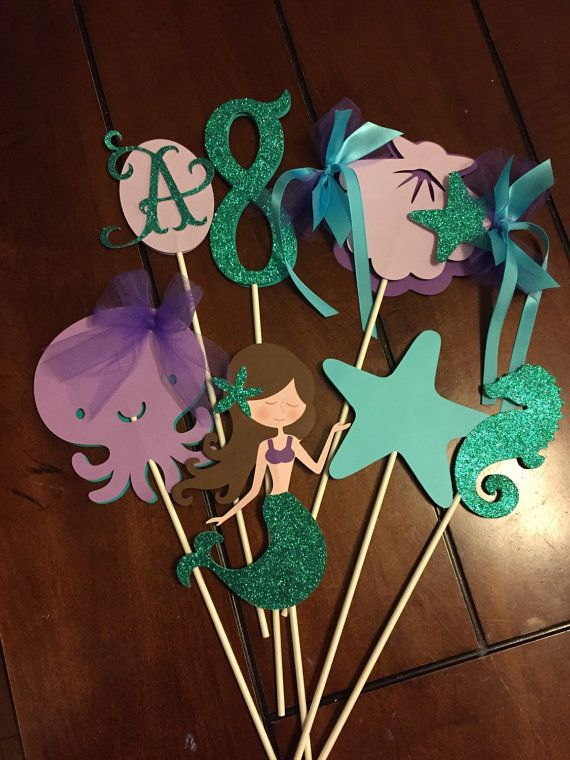 Under the Sea inspired centerpiece. 7 pieces by HandcraftedByW
