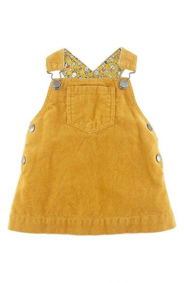 Mini Boden 'Dungaree' Corduroy Dress (Baby Girls) | Nordstrom
