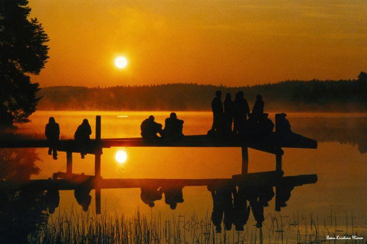 summernight in Finland - nightless night