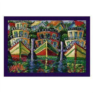 "Sawyer+Art+Rugs | Rakuten.com - Don Sawyer Party Boats Tropical Rug - Size: 5' 4"" x 7' 8 ..."
