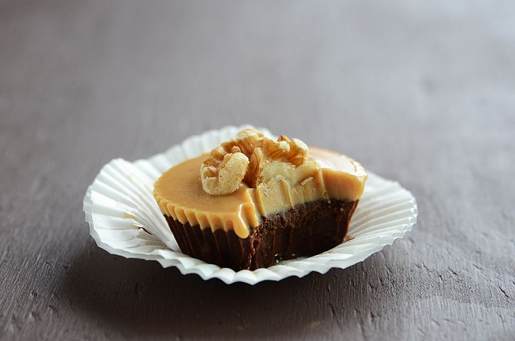 Chocolate Peanut Butter Cups - made with coconut oil, stevia, peanut butter,