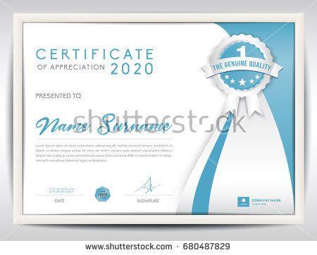 52 Best Certificate Template Design Images On Pinterest
