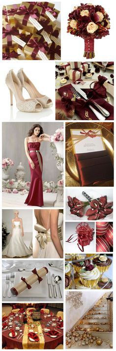 Burgundy, Gold weddings and Dream wedding on Pinterest