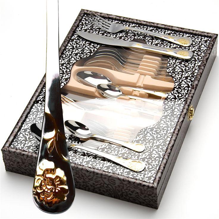 Набор столовых приборов в подарочной упаковке на 6 персон MB-23348   Бренд: Mayer & Boch;         #столовыеприборы #cutlery