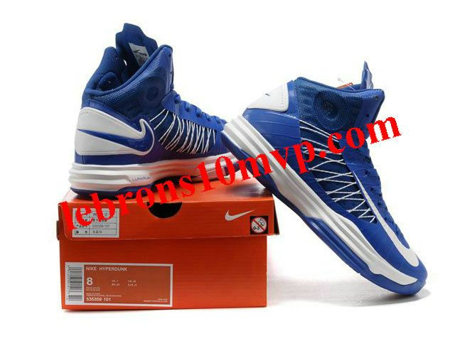 eca17f1762b1 Nike Lunar Hyperdunk X 2012 James Shoes Blue White