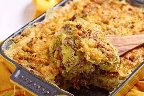 Sbriciolata patate, salsiccia e mozzarella - checucino.it