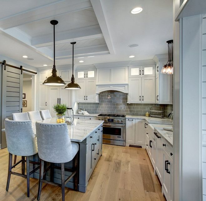 Kitchen Hardwood Flooring Is Naturally Aged Flooring, Medallion Collection,  Santee Oak.