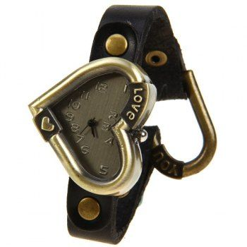 Quartz Watch with Numbers Indicate Dial Leather Watch Band for Women - Black, BLACK in Women's Watches | DressLily.com
