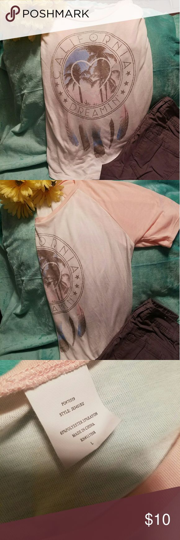 Gold Rush California Dreaming Short Sleeve Shirt Brand: Gold Rush  Size: Large- Can fit like a medium (I got it oversized to look a bit more flowy and slouched) Condition: Amazing condition, worn once Gold rush Tops Tees - Short Sleeve