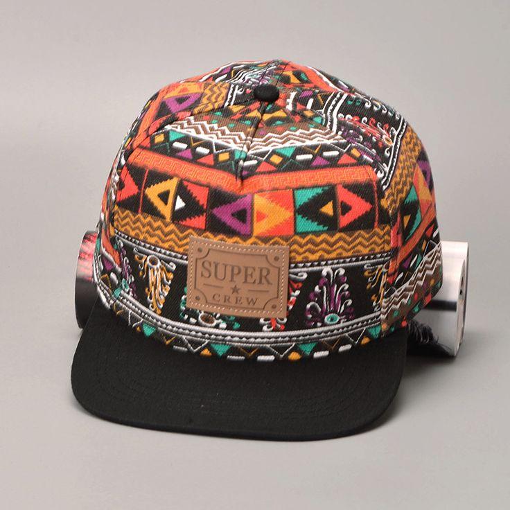 Вышивка хиппи стиль мужчины женщины хип-хоп бейсболки snapback шляпы цветной телевизор с полями шляпы gorras planas casquette