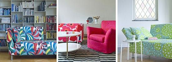 Bemz: Not your average set of slipcovers, the gorgeous IKEA frocks at Bemz will reinvigorate that old Ektorp armchair, Karlstad Sofa, or Nils dining chair.   10 of Our Favorite Ikea Hacks via Brit + Co