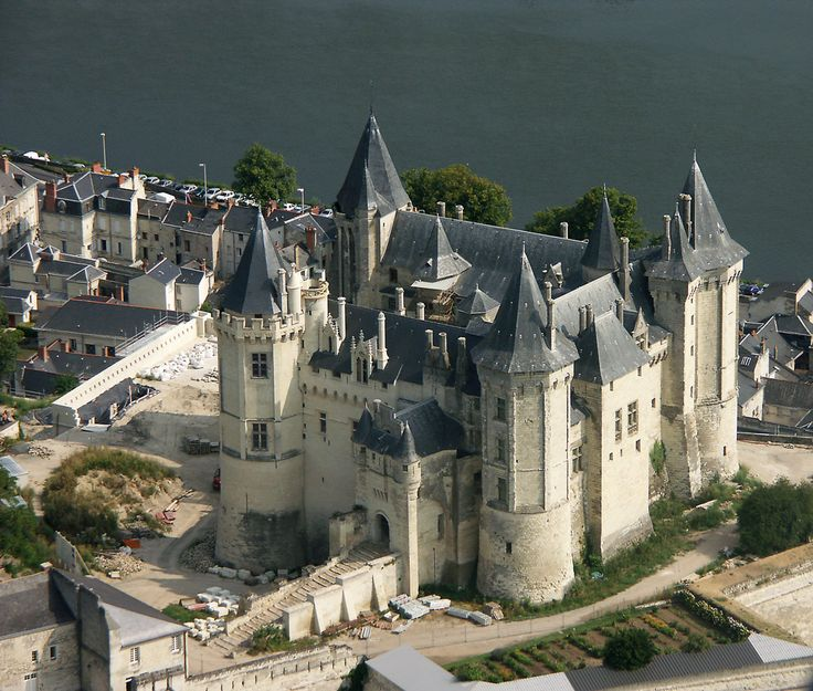 Aeienne de Saumur - Maine-et-Loire; chateau first mentioned in 1063