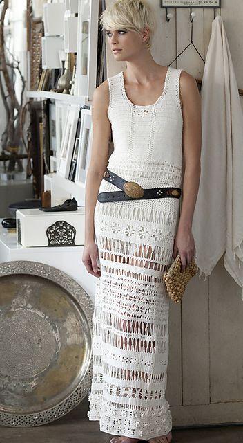 Crochet Long Dress pattern by Kristin Omdahl