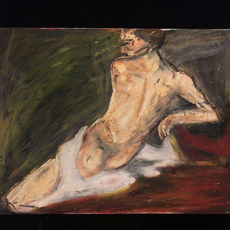 Wake up! (menstrution portfolio) 35*50 oil pastel on paper beren koramazovski