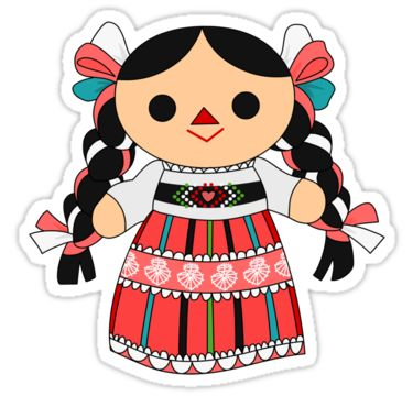 "dollies that die cartoon | Maria 4 (Mexican Doll)"" Stickers by alapapaju 