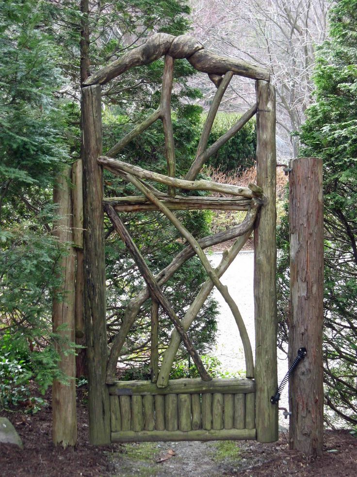 Rustic wood arbor designs woodworking projects plans for Garden wood designs