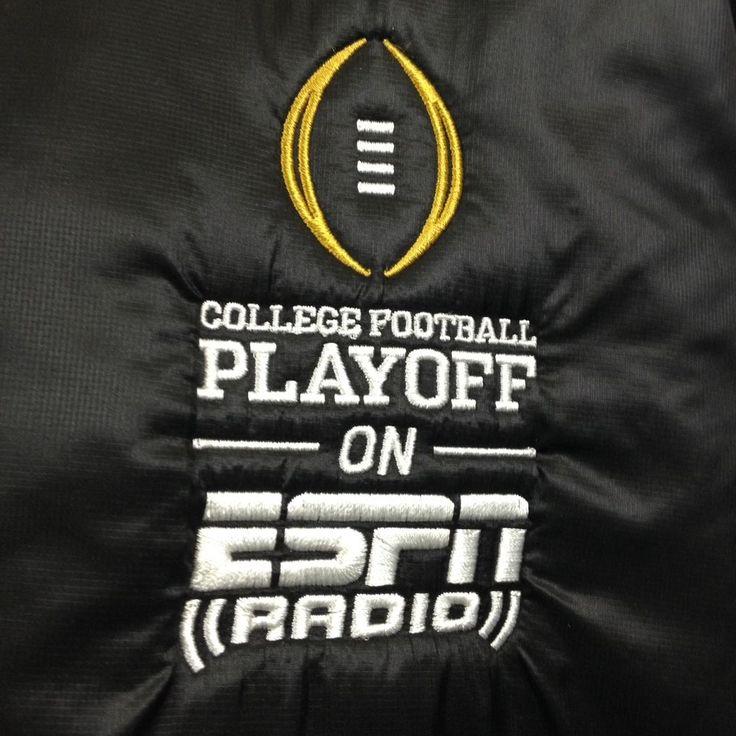 #ESPN #Radio #College #Football #Playoff Track #Jacket #gameday #collegeball