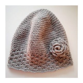 virkad mössa mönster crochet snäckskal