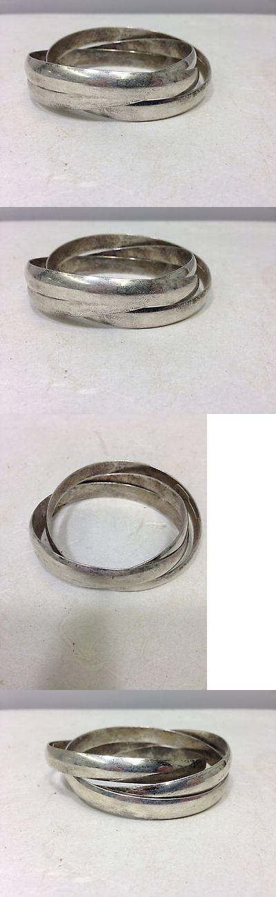 Bracelets 98509: Miao Hmong Silver 3 Bangle Puzzle Silver Bracelet -> BUY IT NOW ONLY: $50.74 on eBay!
