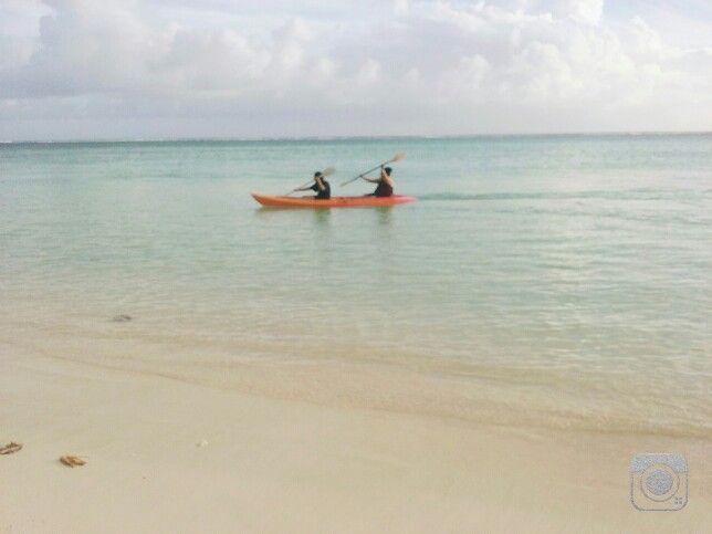 Fams kayaking around