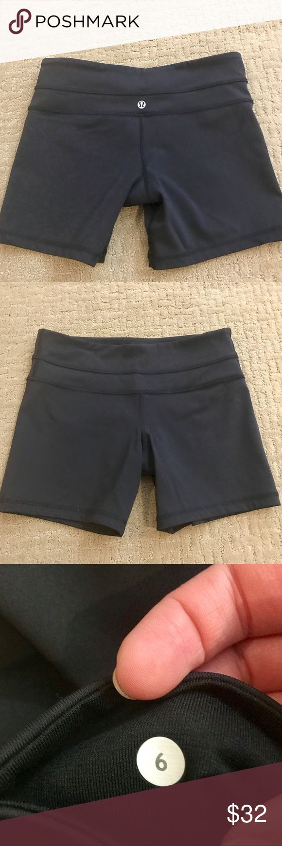 🆕 Lululemon Black Spandex Shorts Never worn lulu spandex shorts in black. In perfect condition. Size 6. lululemon athletica Shorts