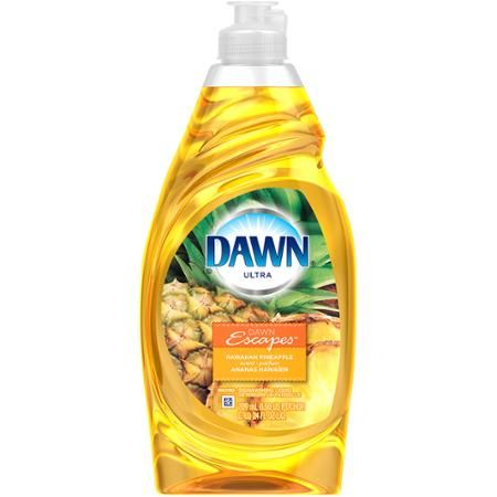 Dawn Ultra Hawaiian Pineapple Scent Dishwashing Liquid, 24 fl oz