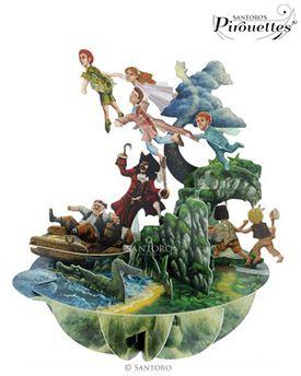 Peter Pan 3D Pirouette | 3d pop up | Santoro London
