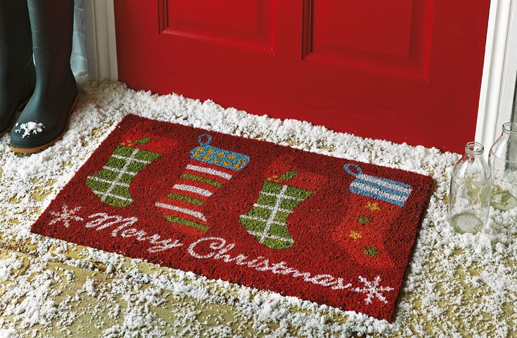 What an adorable addition to your Christmas decorations this season! This festive door mat from #Argos is the perfect way to welcome in the Christmas spirit.