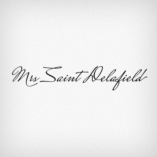 Mrs Saint Delafield Pro by Ale Paul. A typeface that is perfect for weddings.