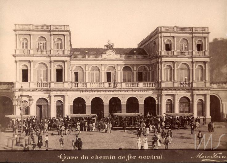Marc Ferrez - Estação da estrada de ferro Central do Brasil - 1890 - Rio de Janeiro- Brasil