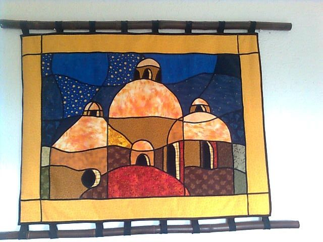 Cúpulas tecnica vitral stained glass art quilt quilting domes patchwork