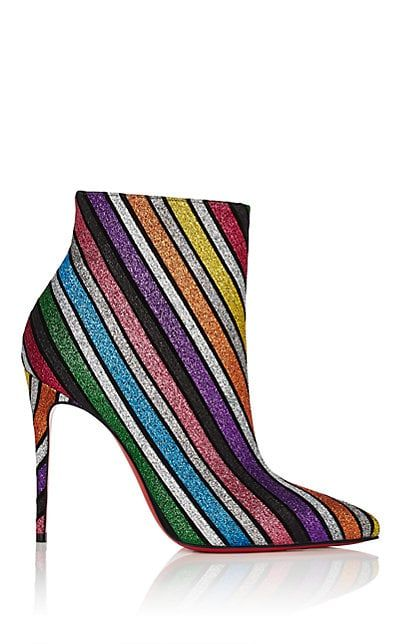 19f87b2d16b We Adore  The So Kate Glitter-Striped Ankle Boots from Christian Louboutin  at Barneys New York  1295