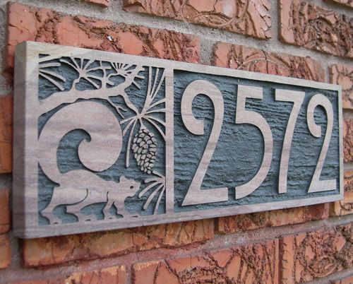 Custom Sandstone House Number Plaques handcrafted in Denver.