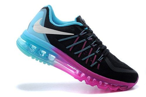 2015 new 698903-004 Air Max black sky blue womens running sport shoes