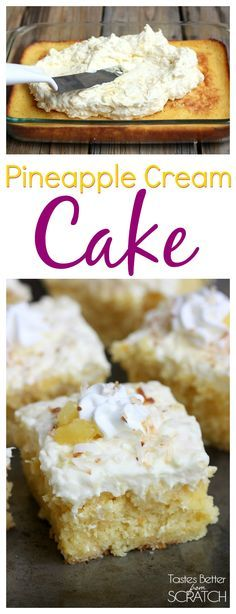 My FAVORITE easy summer cake! This cake is seriously amazing! Recipe on TastesBetterFromScratch.com