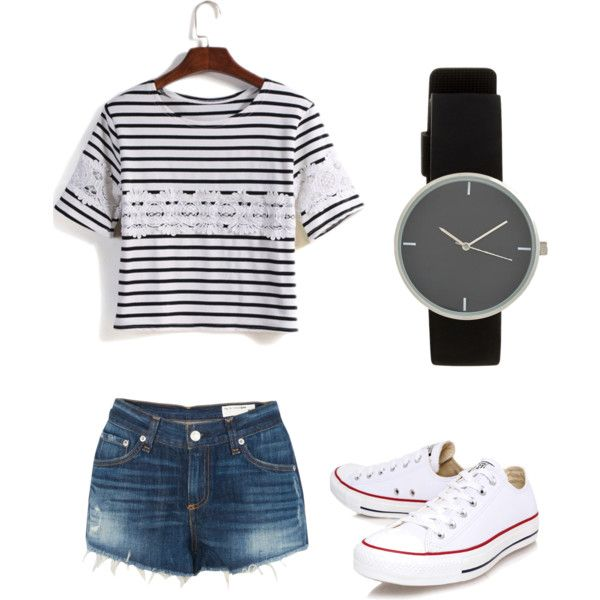 Geen titel #13 by ninavanoss on Polyvore featuring polyvore, mode, style, rag & bone and Converse