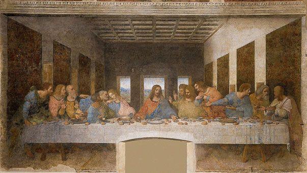 Leonardo da Vinci Munkássága Utolsó vacsora   Leonardo da Vinci Munkássága: Az Utolsó vacsora c. festmény a Santa Maria delle Grazie-templomban található. Az utolsó vacsora (latin cena Domini, cœna Domini, 'az Úr vacsorája') Jézusnak és tizenkét apostolának utolsó közös pászkavacsorája a Jézus elfogatását és keresztre feszítését megelőző estén. A keresztény vallás hívői az eseményre a nagycsütörtöki úrvacsora-liturgia keretében emlékeznek.