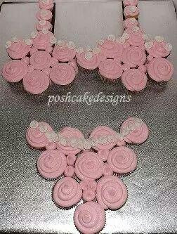 Lingerie bra and undies pull apart cupcake cake. Bridal shower cupcake cake #poshcakedesigns.com #birmingham al