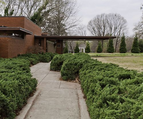 Rosenbaum house 1940 addition in 1948 usonian style for B b maison florence