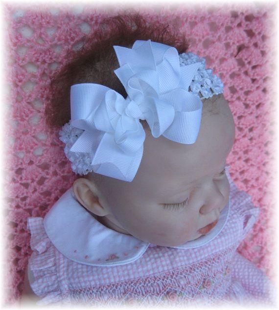 81747553ead06 White baby headband